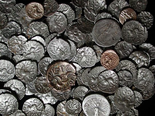 Most of the hoards included Iron Age silver coins, as well as a small number of Iron Age gold and Roman silver coins