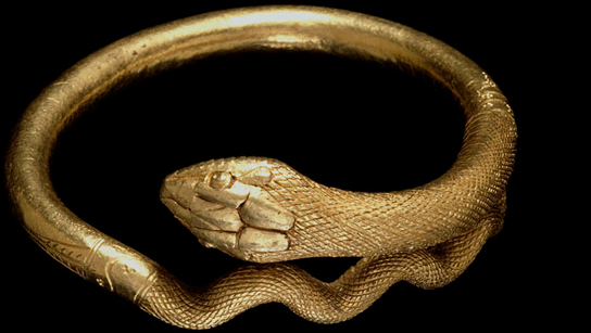 Gold bracelet in the form of a coiled snake, 1st Century AD, Pompeii
