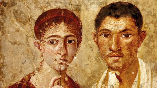 Portrait of baker Terentius Neo and his wife. Pompeii, AD 55–79
