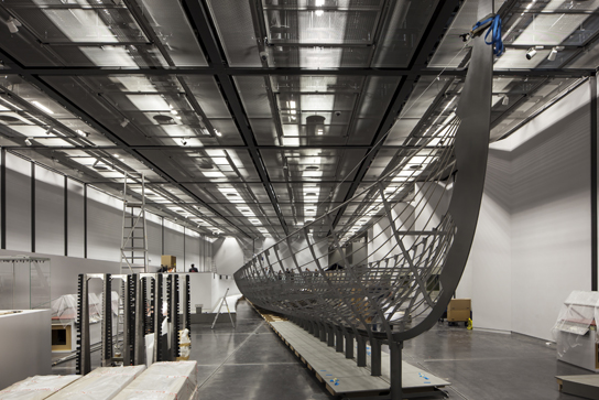The installation of Roskilde 6 at the British Museum. © Paul Raftery