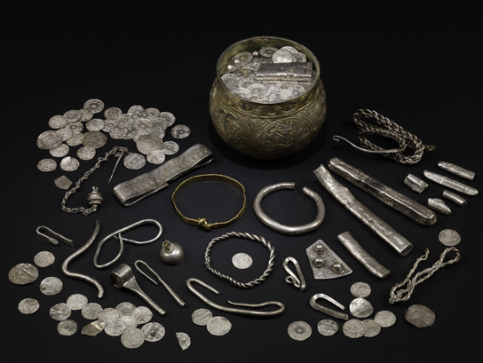 The Vale of York Hoard, acquired jointly by the British Museum and York Museums Trust in 2010, contains Slavic silverwork from Russia and Islamic coins from as far afield as Uzbekistan and Afghanistan