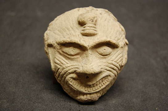 Fired clay mask of Humbaba. Old Babylonian, 2000–1700 BC; From Ur, southern Iraq. (ME 127443)