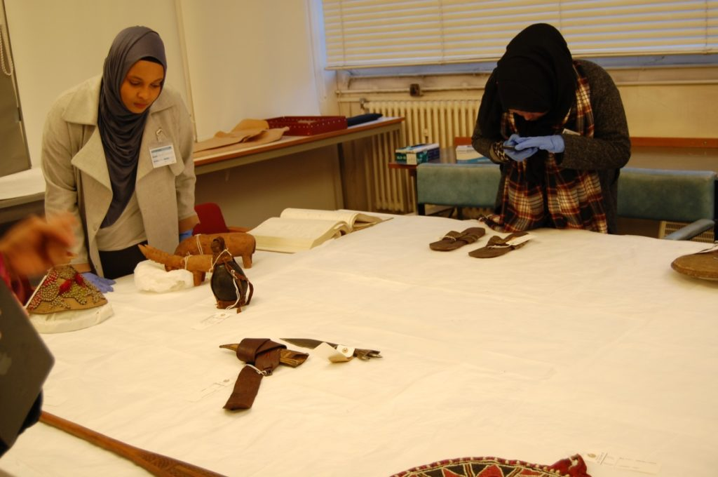 Exploring the Somali collection in the Museum's store