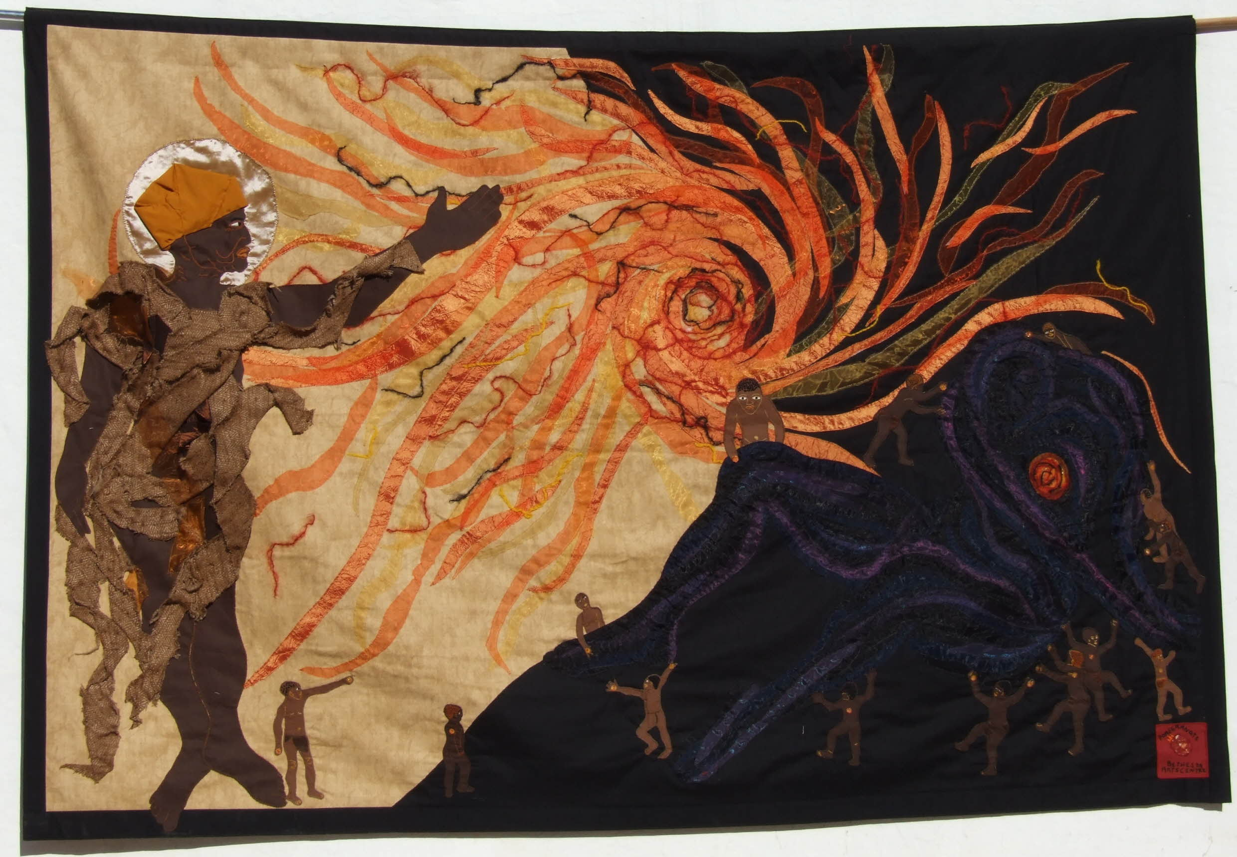 Jeni Couzyn (artistic director), Sandra Sweers (lead artist), The Creation of the Sun. A collaborative piece from Bethesda Arts Centre, textile, 2015. © The Bethesda Foundation Limited.