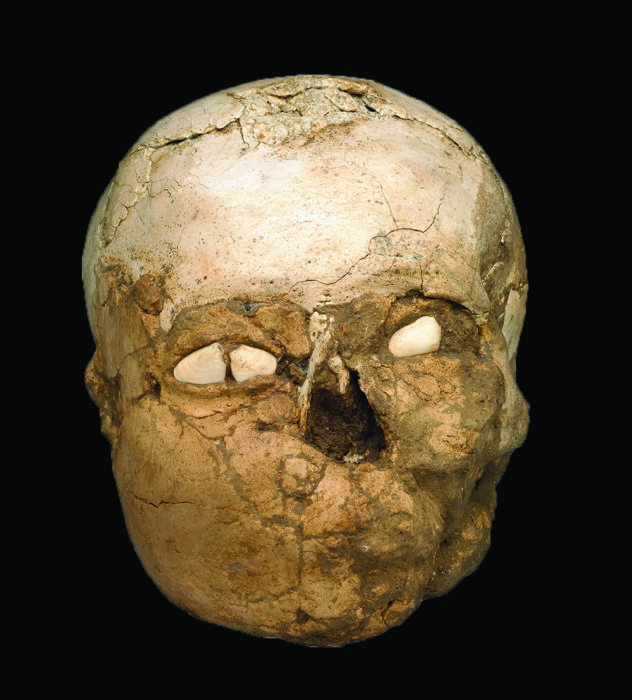 The Jericho Skull, a plastered human skull from 8200–7500 BC