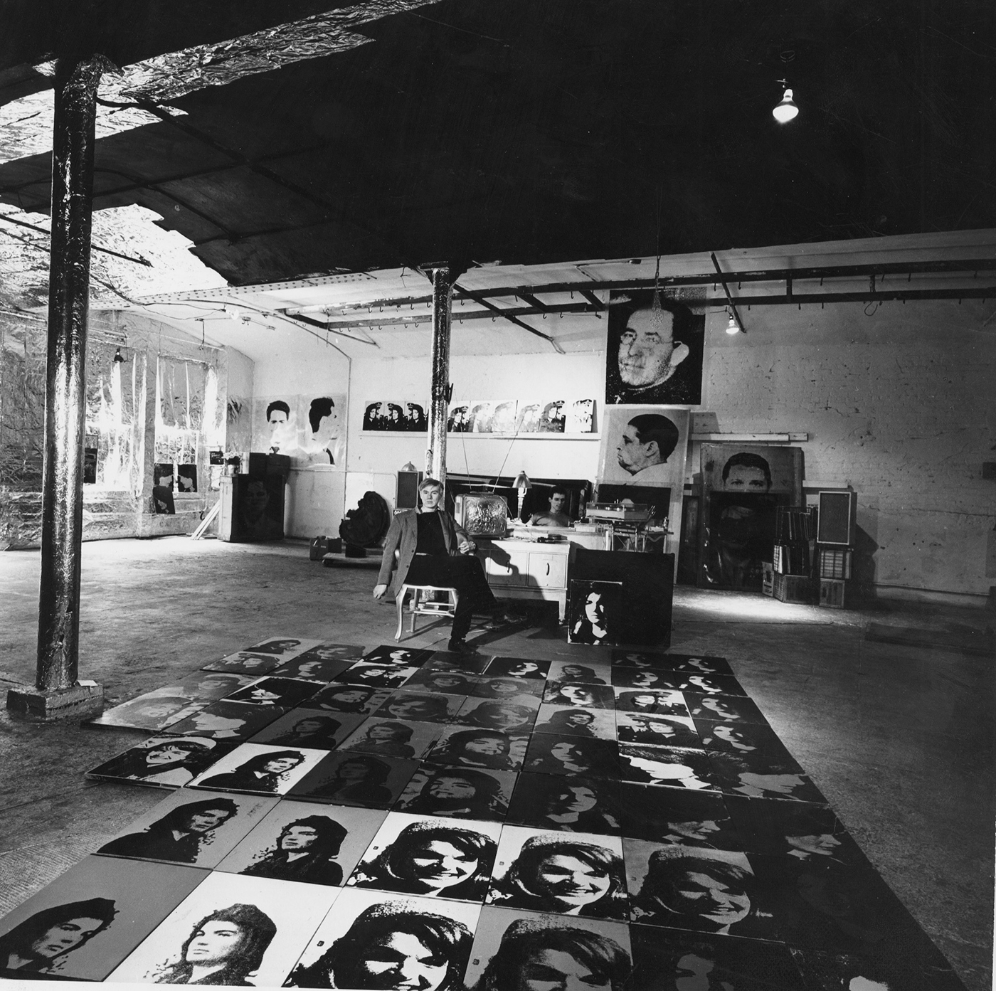 Andy Warhol In His Studio