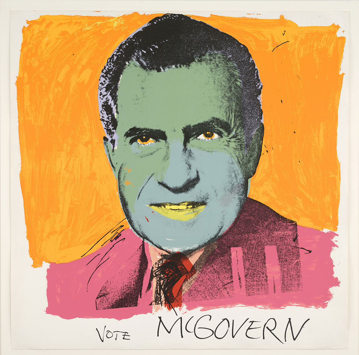 Andy Warhol (1928–1987), Vote McGovern. Screenprint, 1972. © 2016 The Andy Warhol Foundation for the Visual Arts, Inc./Artists Rights Society (ARS), New York and DACS, London.