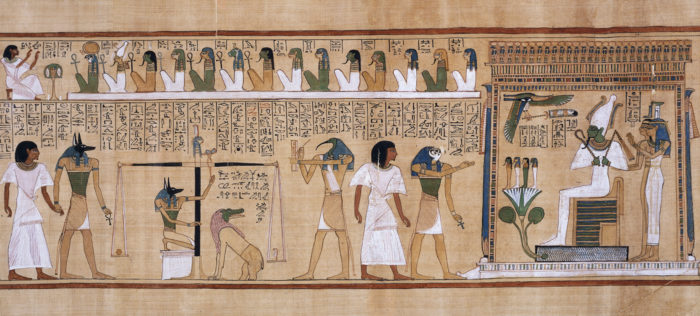 Book of the Dead of Hunefer. Ancient Egypt, 19th Dynasty.