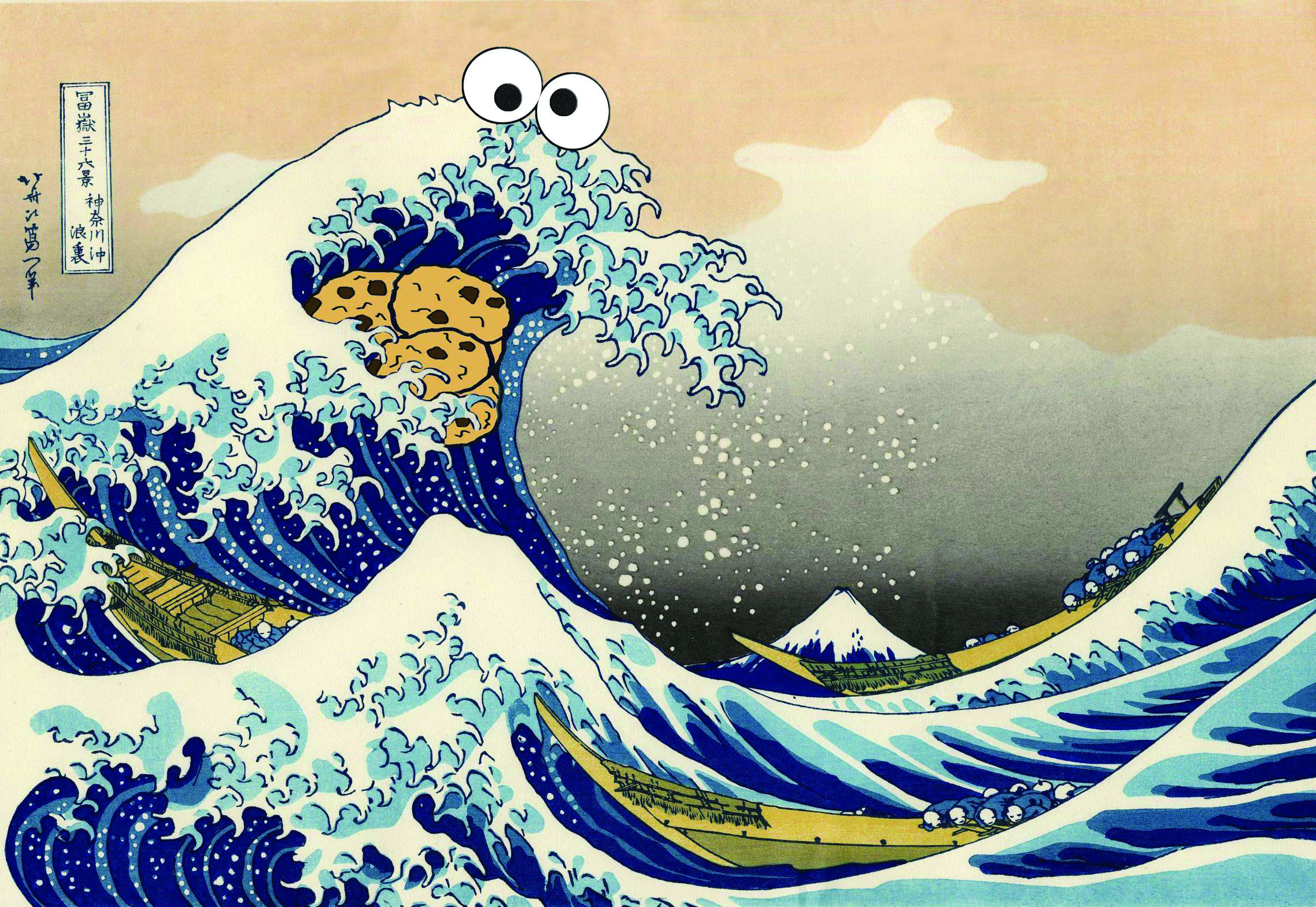 Cookie Monster Great Wave. © reddit.com user Put_It_All_On_Red.