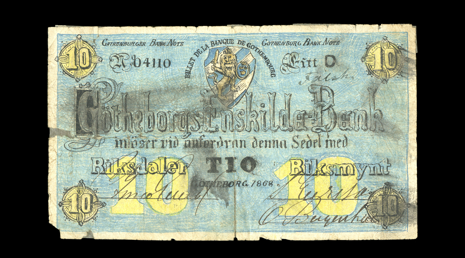 Forged Swedish note