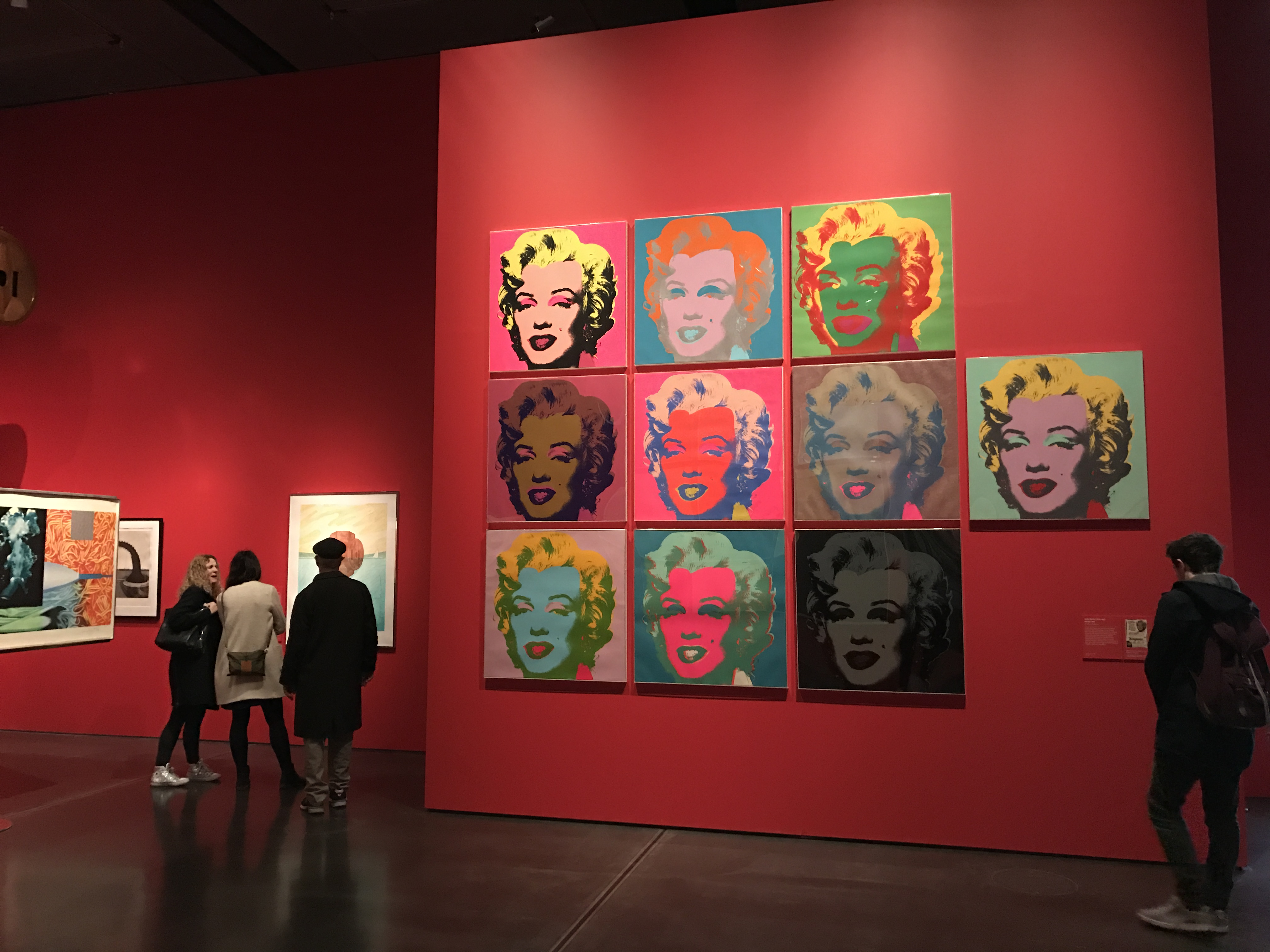 Andy Warhol's 10 Marilyn Monroes in The American Dream exhibition.