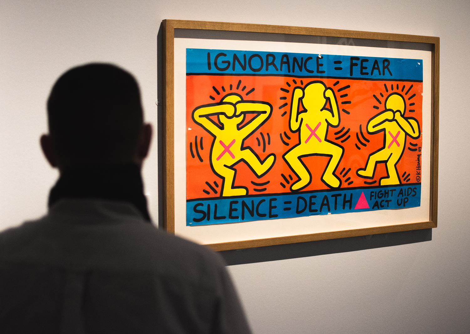 Keith Haring's Ignorance is Fear in the exhibition.
