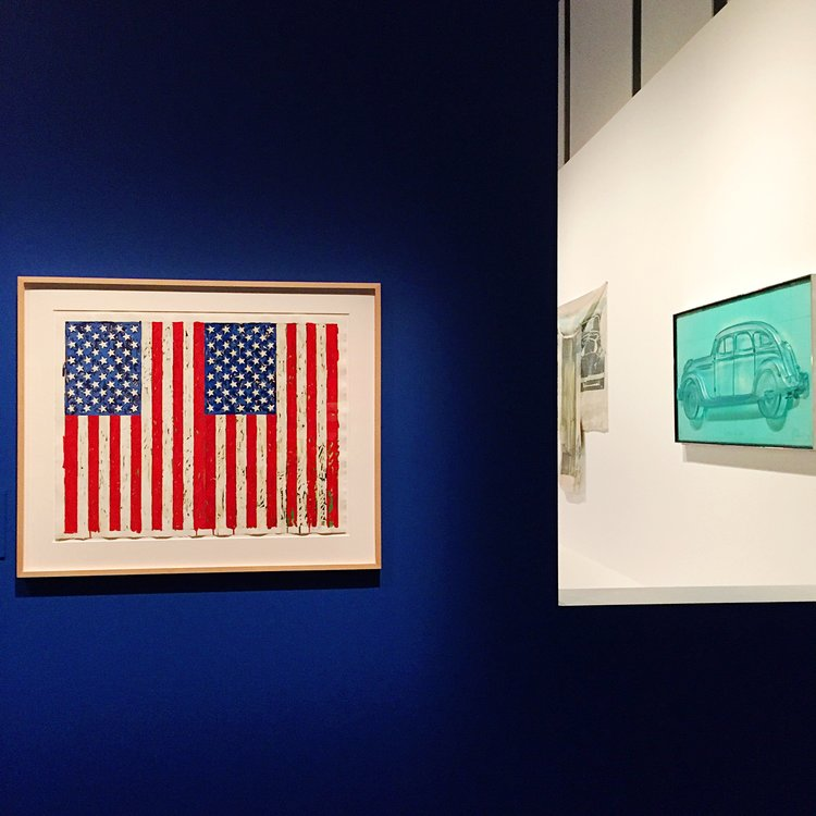 Jasper Johns Flags I. Photo: Kate Marsden.