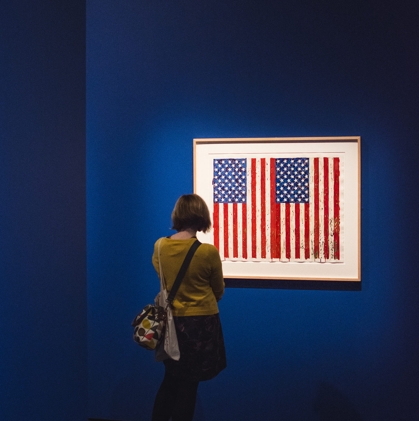Jasper Johns Flags I in the exhibition.