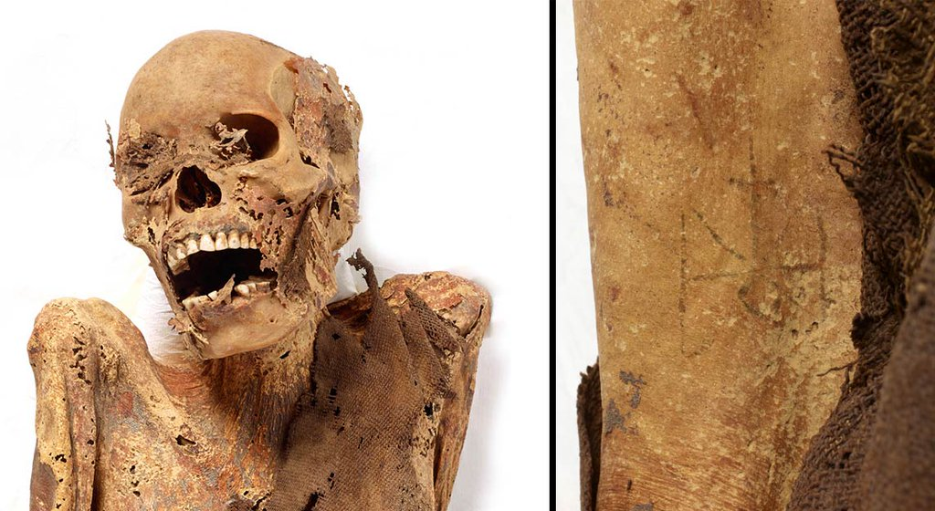 Mummy of a woman from Sudan.
