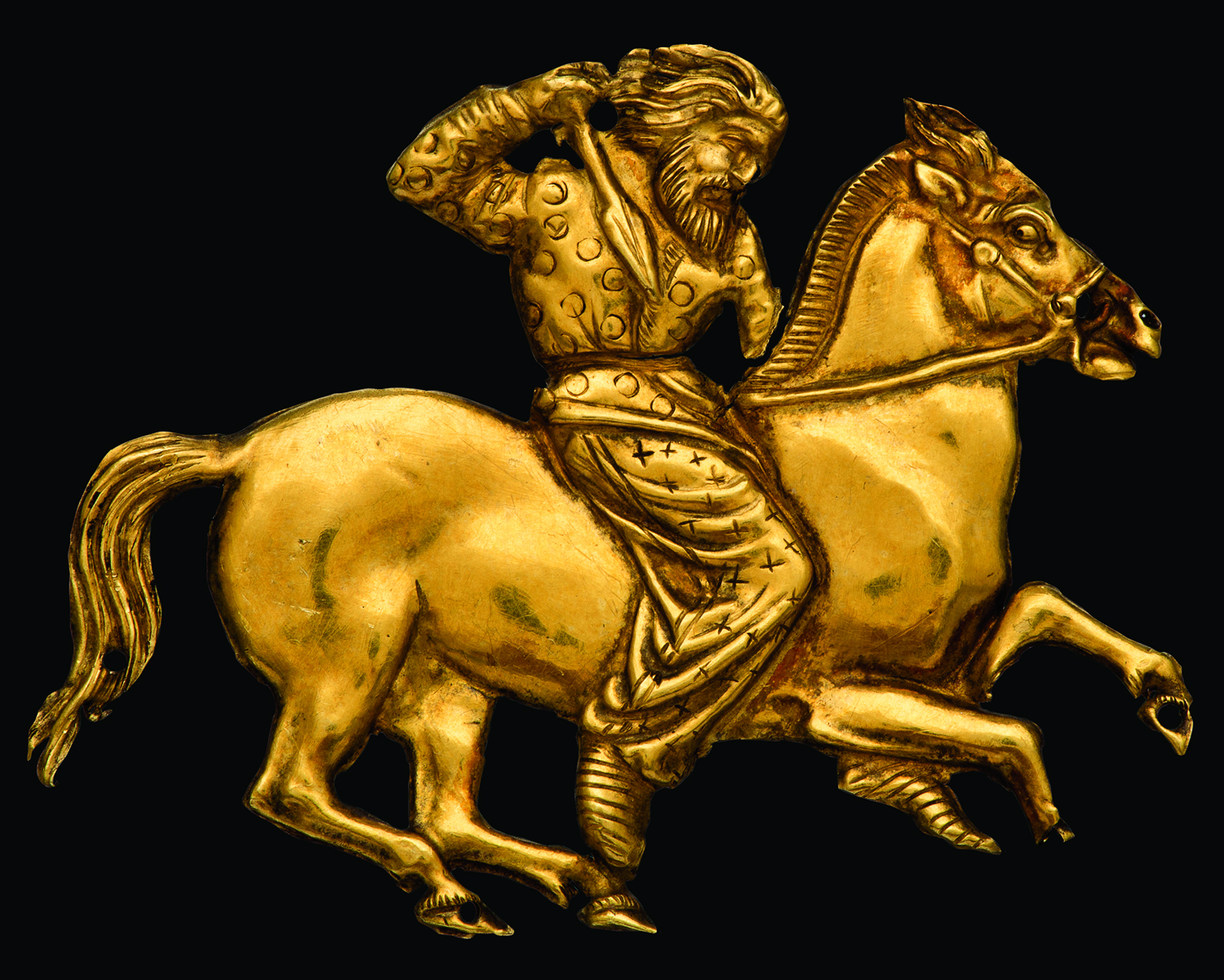Gold Plaque of Mounted Scythian