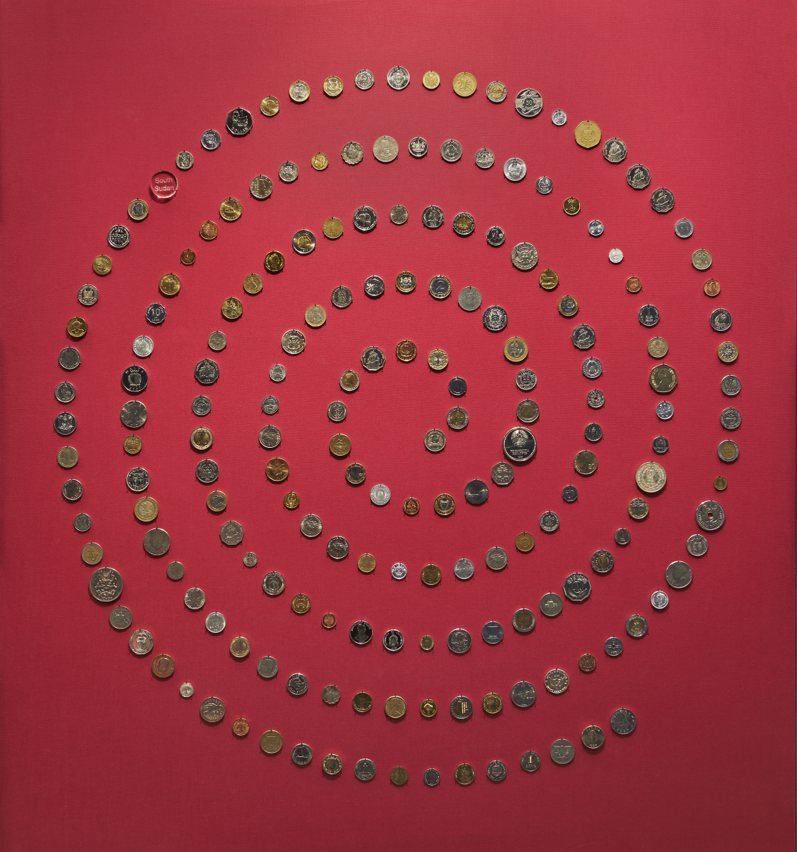 Coin spiral in Room 68.