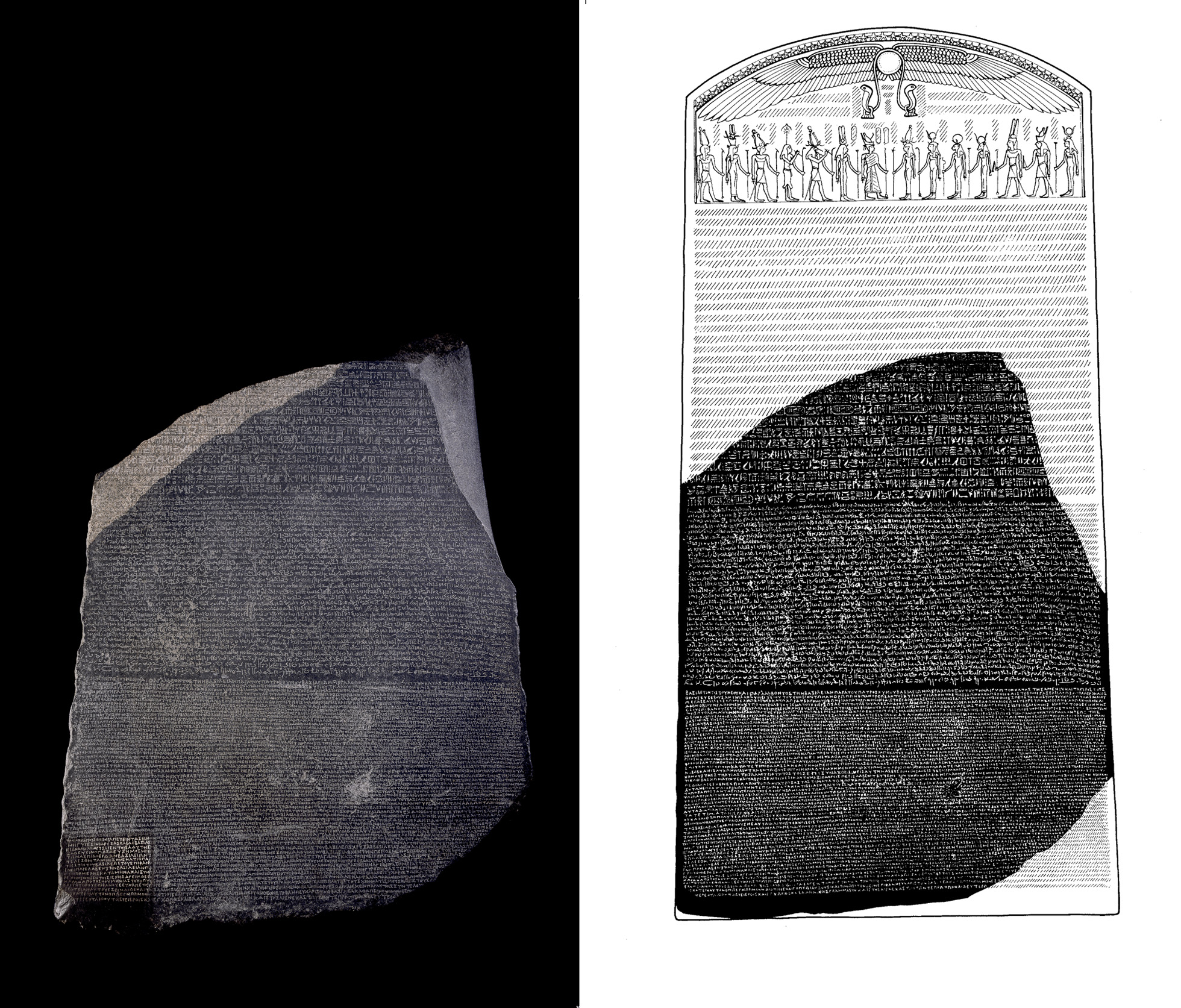 rosetta stones Rosetta stone, the popular commercial language-instruction system, is no  replacement for trained teachers and in-class learning, a new study.