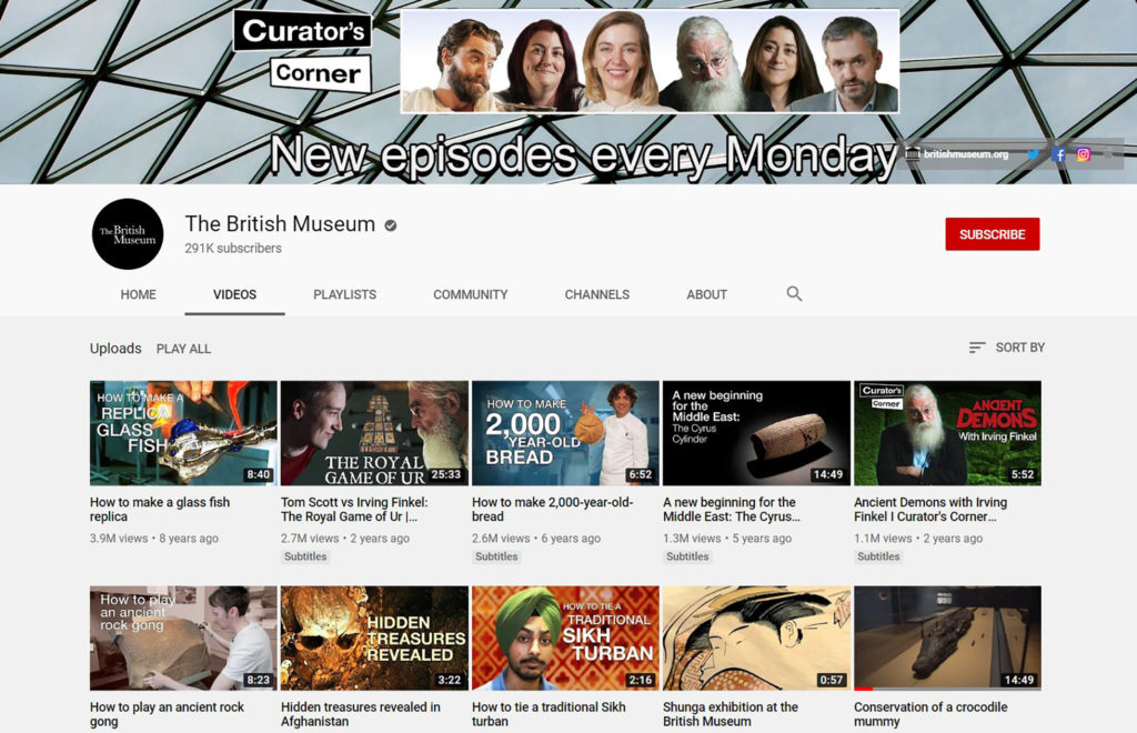 The British Museum YouTube page.