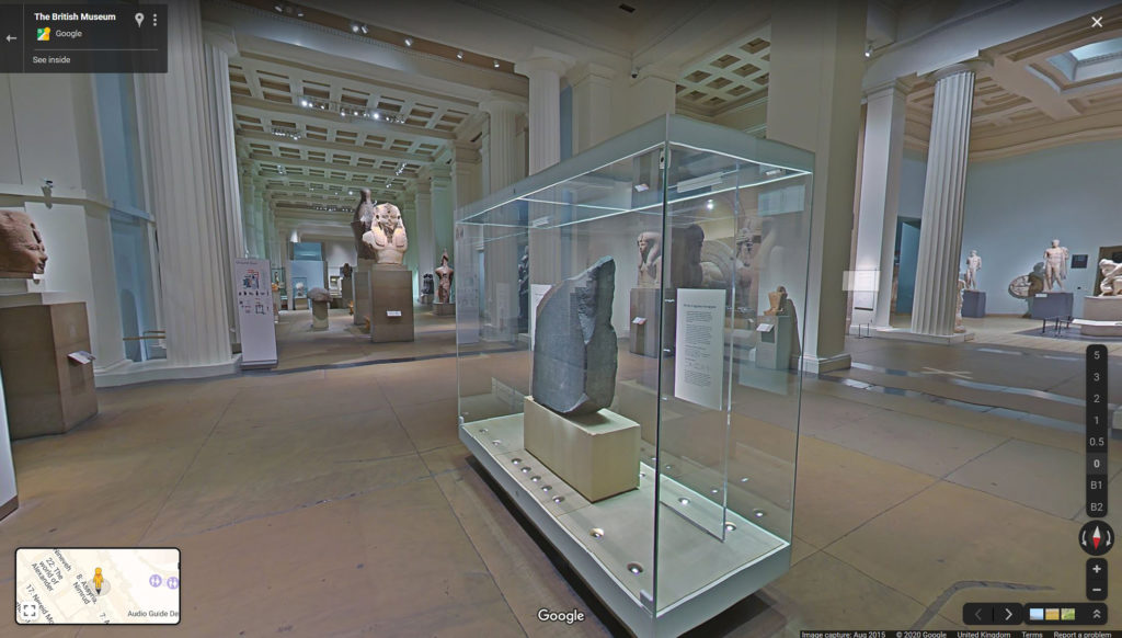 Inside the Egyptian Sculpture Gallery on Google Street View
