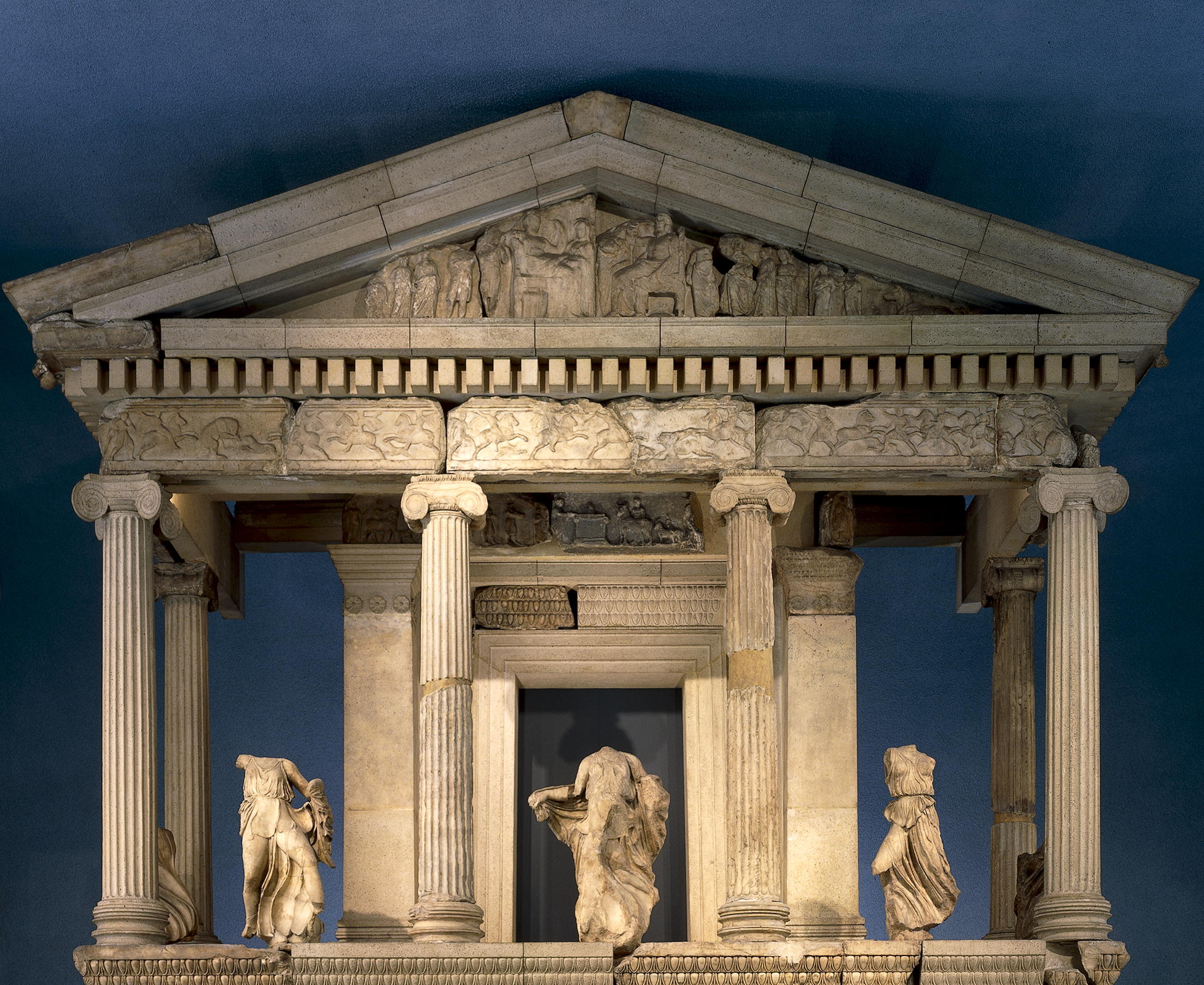 Image of Nereid Monument in the British Museum.