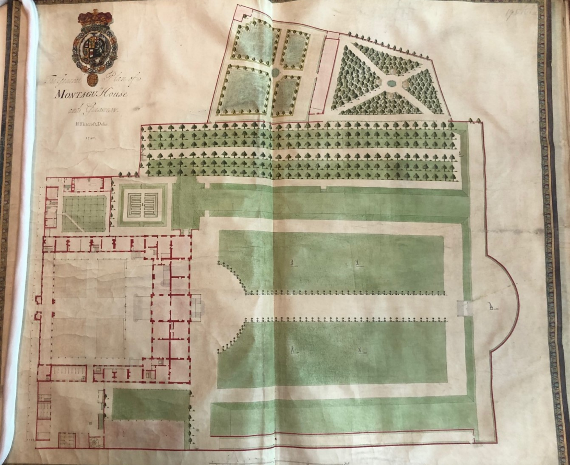 Image of the garden plan drawing for Montagu House.